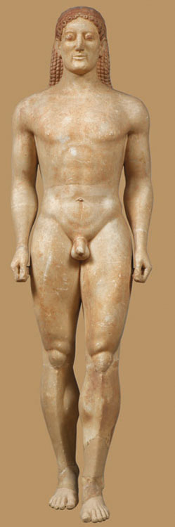 Funerary statue of the Anavyssos kouros (Kroisos) (3851)